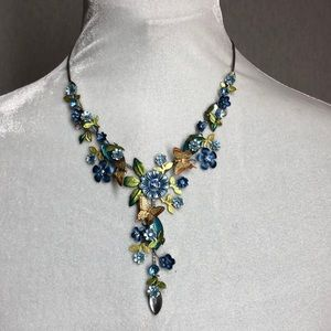 Floral Butterfly Spring Color Necklace